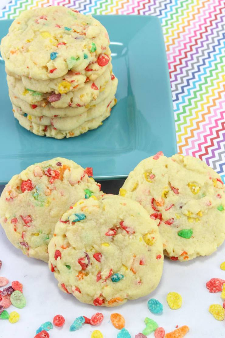 Cereal Cookies! EASY Fruity Pebbles Cookie Recipe - Simple Desserts - Breakfast - Kids Parties
