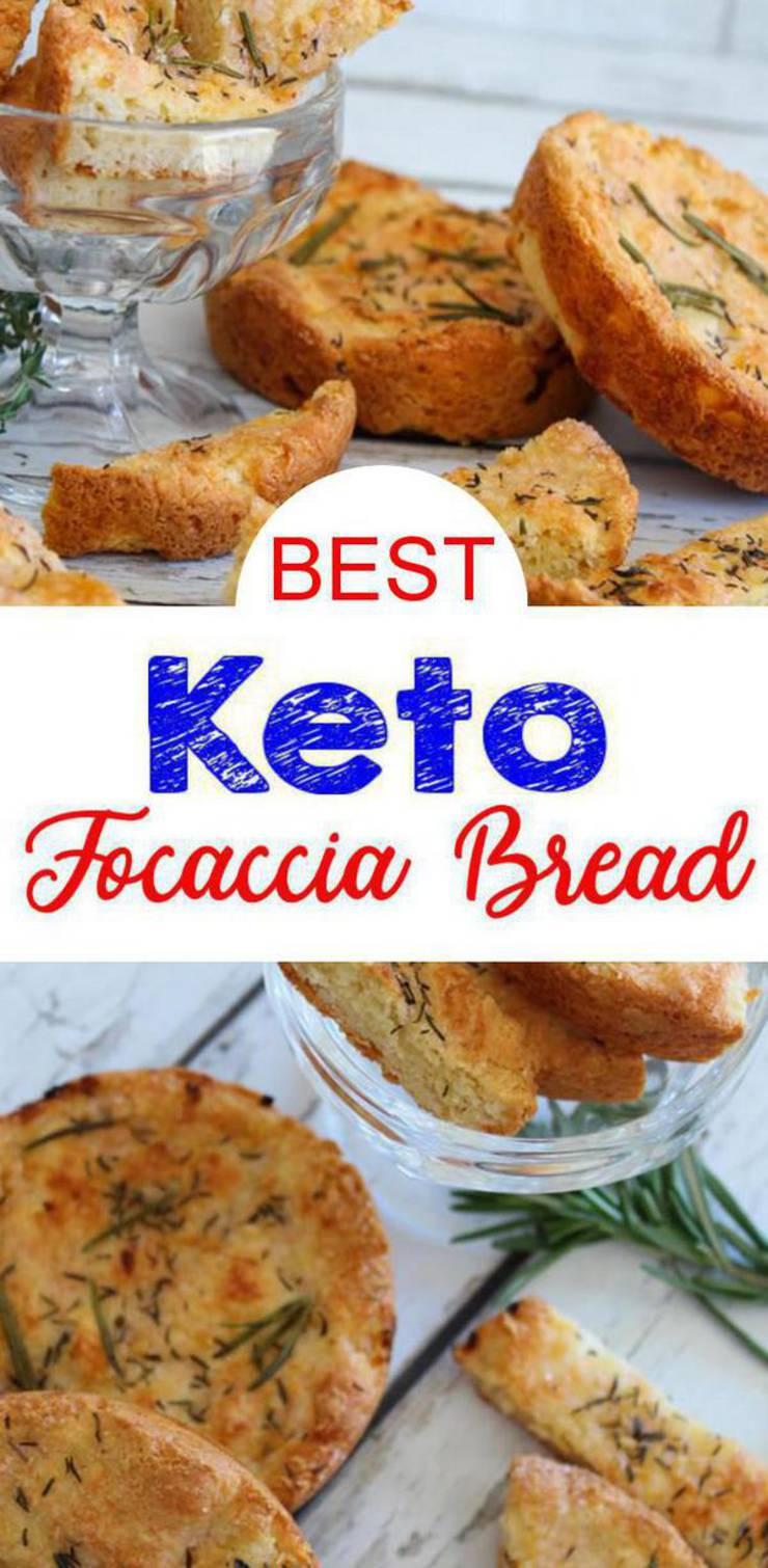 BEST Keto Bread! Low Carb Keto Focaccia Bread Idea - Quick & Easy Ketogenic Diet Recipe - Completely Keto Friendly