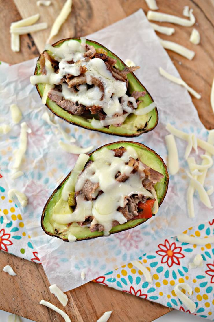 Keto Philly Cheesesteak - Low Carb Avocado Bowl With Cheese - Keto Stuffed Philly Cheesesteak Recipe {Easy}