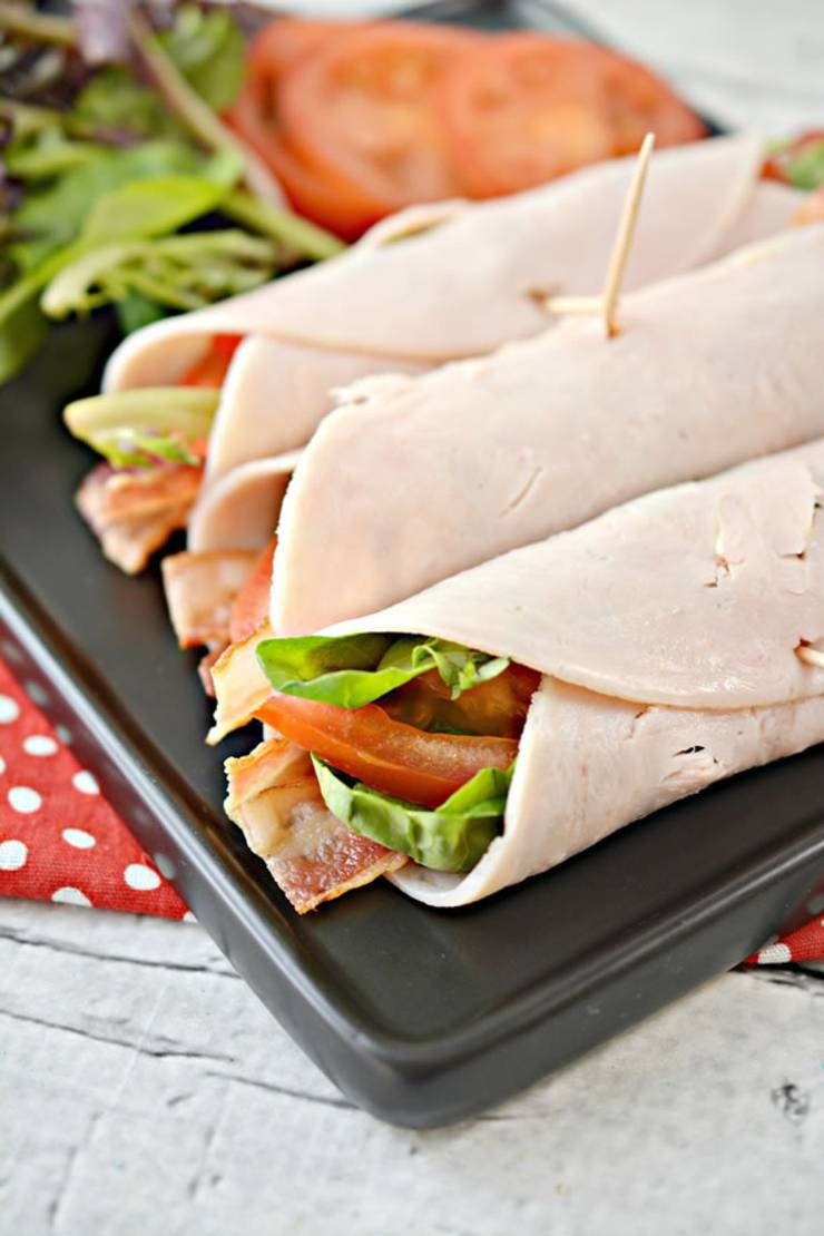 Keto Wraps! BEST Low Carb Turkey BLT Wrap Recipes - Keto Sandwiches - Healthy Ideas - Tasty Keto Turkey Roll Ups