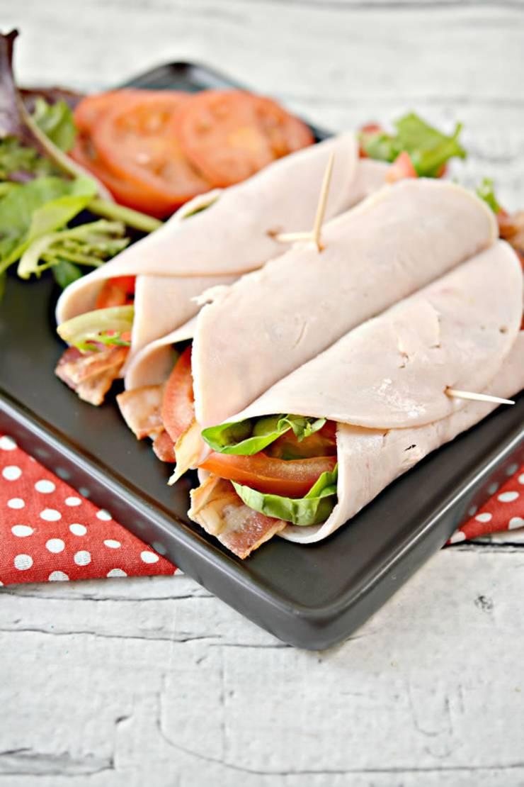 Keto Wraps! BEST Low Carb Turkey BLT Wrap Recipes - Keto Sandwiches - Healthy Ideas - Tasty Keto Turkey Roll Ups