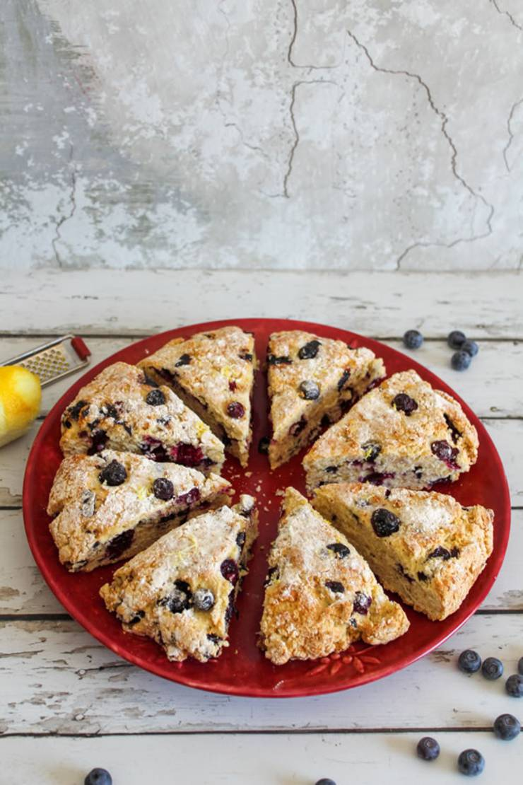 Weight Watchers Lemon Blueberry Scones – BEST WW Recipe – Breakfast – Treat – Snack with Smart Points