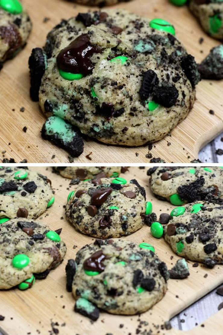 Mint Oreo Cookies_BEST Mint Chocolate Oreo Stuffed Cookie Recipe_Sweet Treats_Dessert Recipes