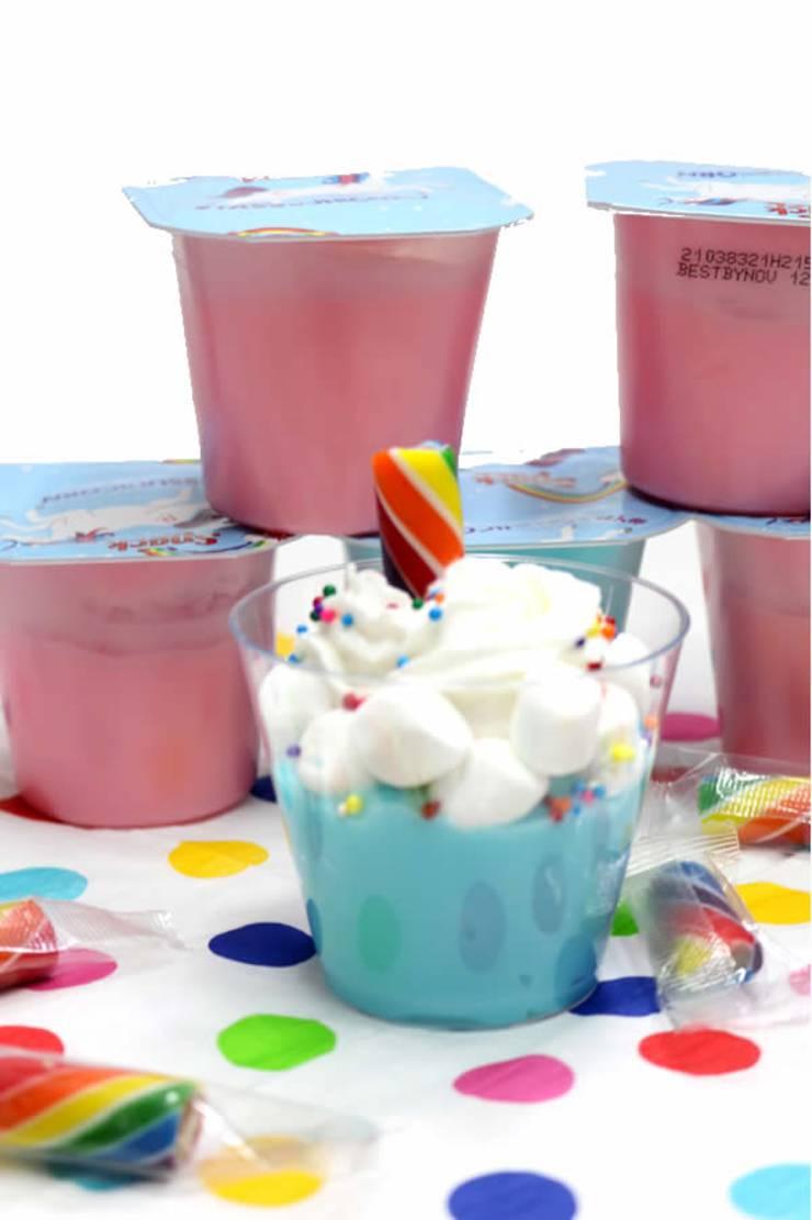 Unicorn Pudding Cups! BEST Unicorn Party Idea - Dessert Cups - Unicorn Party Favors