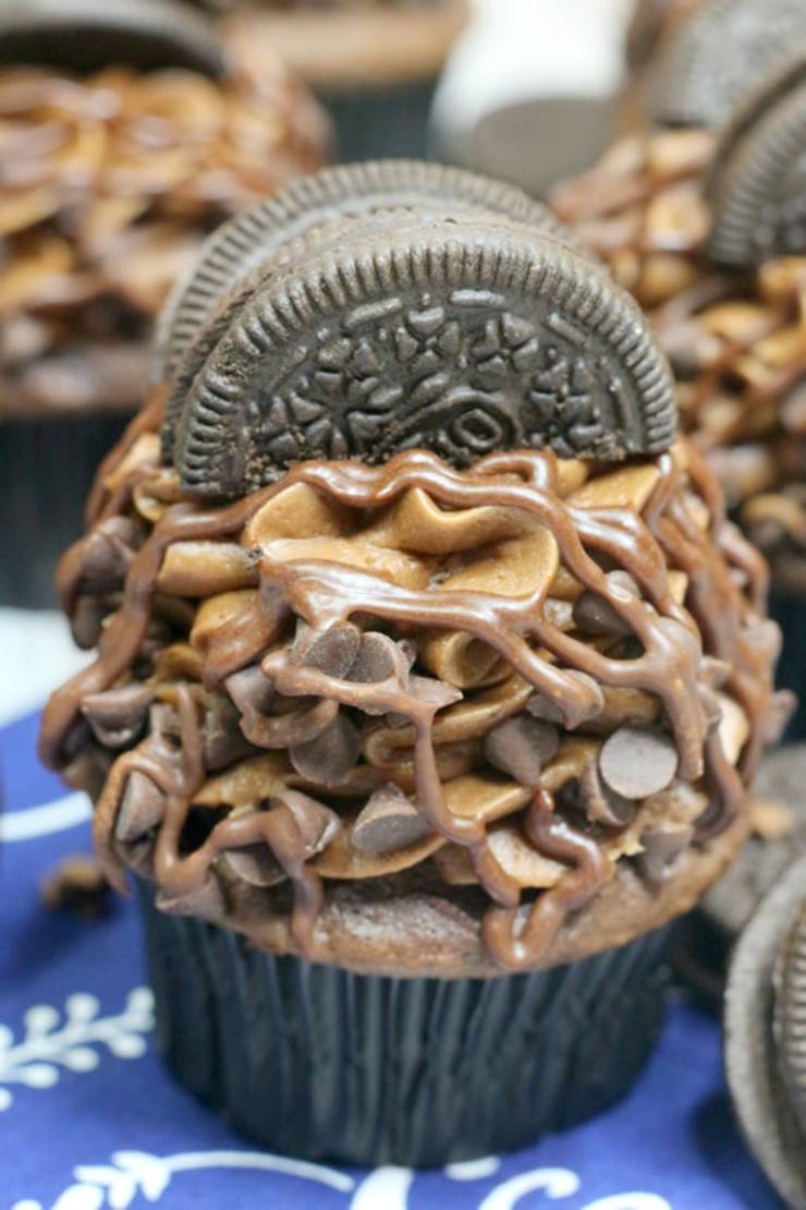Oreo Cupcakes! BEST Oreo Cupcake Recipe - Easy From Scratch Chocolate Cupcake Idea - Sweet Treats - Desserts - Parties