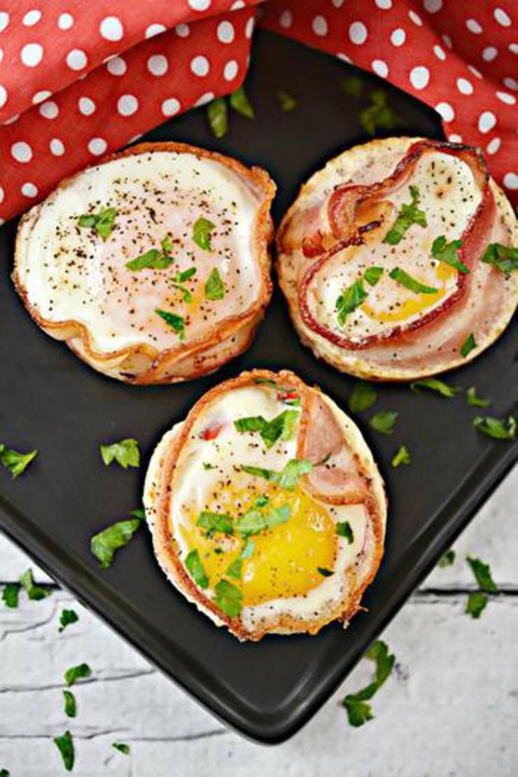 Keto Bacon And Sausage Egg Cups
