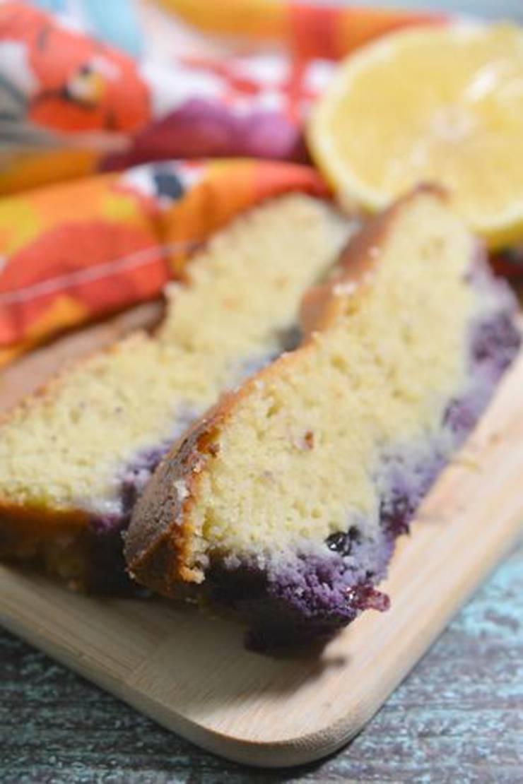 Keto Lemon Blueberry Loaf Bread
