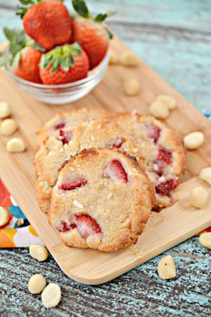 Keto Strawberry Macadamia Nut Cookies
