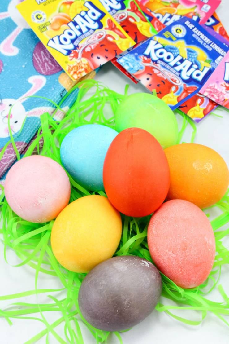 Best Dyed Easter Eggs How To Dye Easter Eggs With Kool Aid Easy