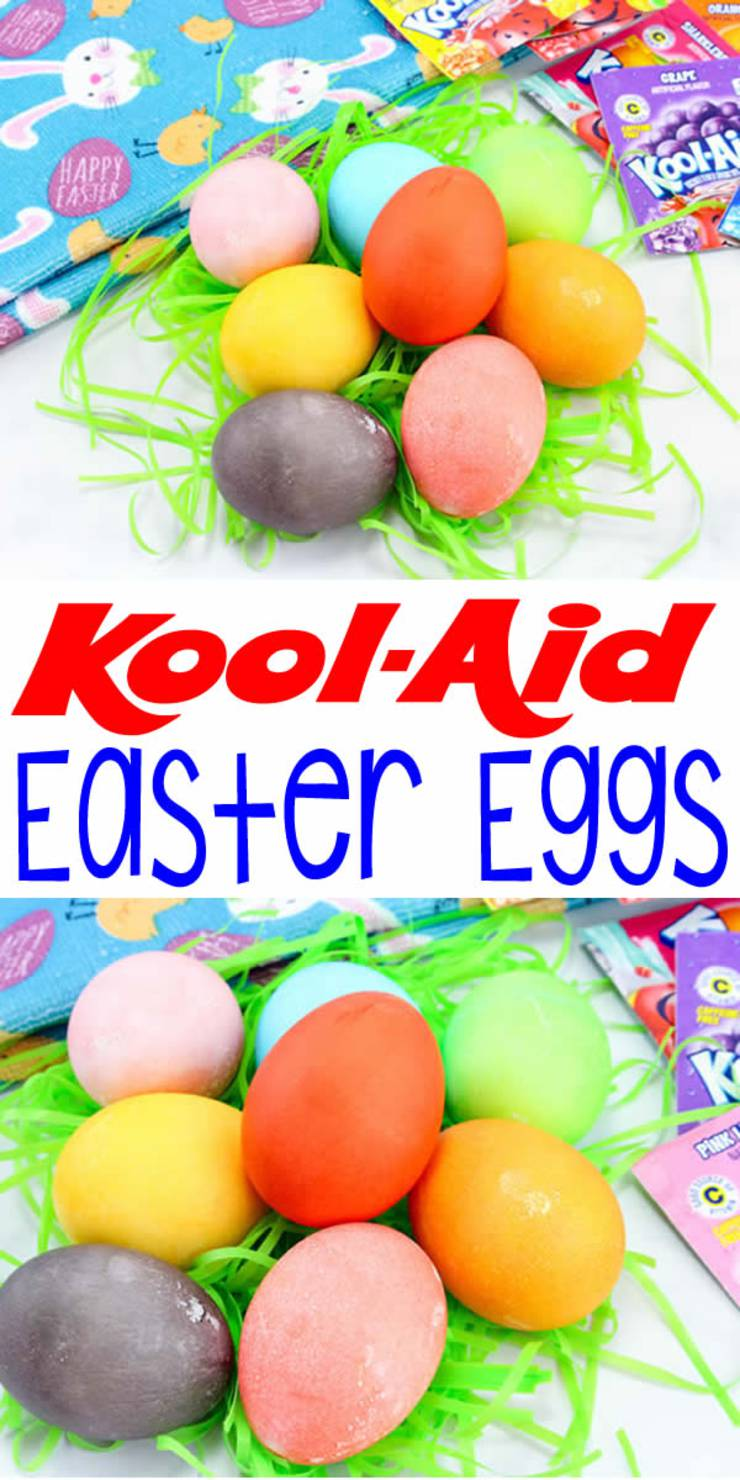 BEST Dyed Easter Eggs_How To Dye Easter Eggs With Kool Aid_EASY DIY Easter Egg Decorating Ideas Kids Will Love