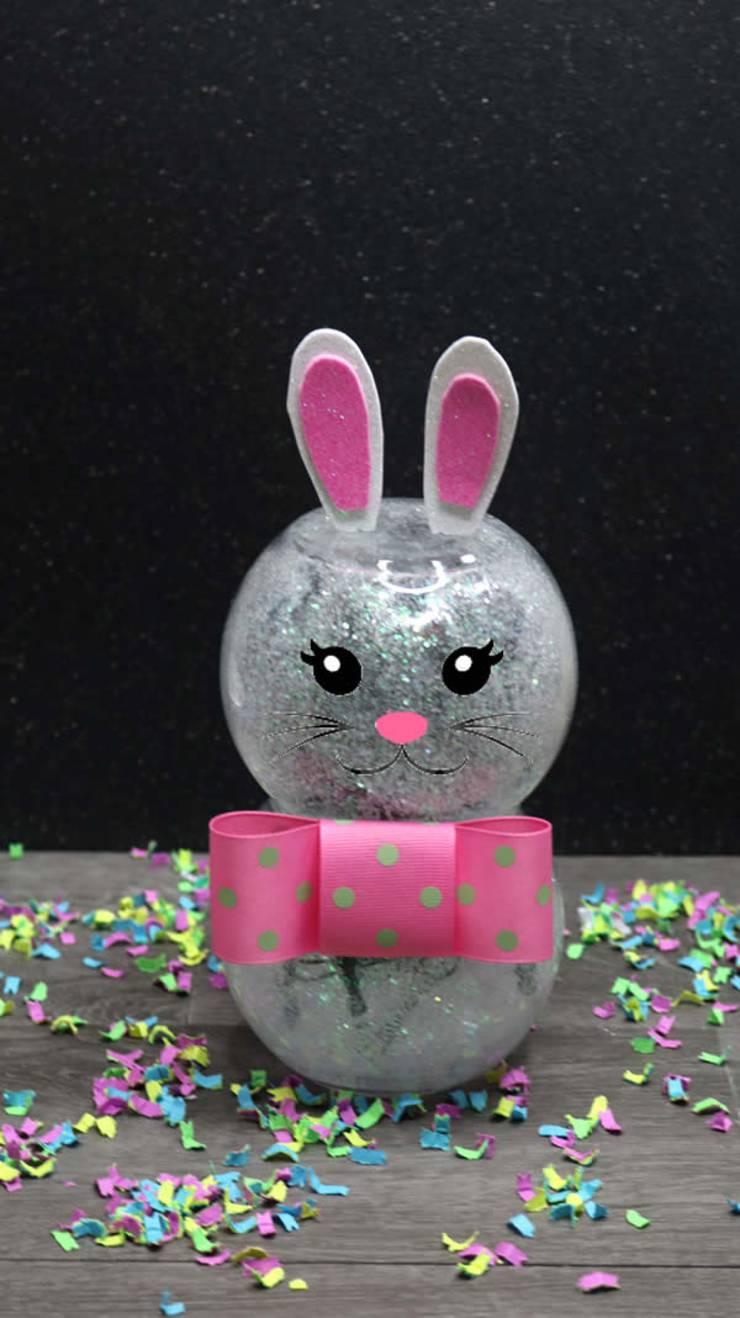 Dollar Store Easter Decor - Easy DIY Crafts - How To Make Light Up Easter Bunny - Simple Spring Decor Ideas For The Home - Dollar Tree Hacks