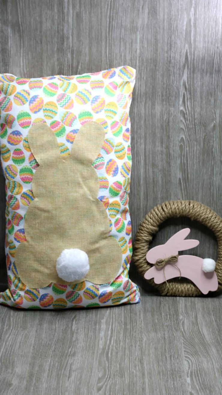 Dollar Store Easter Decorations - Easy DIY Crafts - How To Make Bunny Pillow - Simple Decor Ideas For The Home - Dollar Tree Hacks