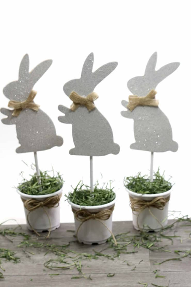 Dollar Store Easter Decorations - Easy DIY Crafts - How To Make Bunny Pots - Simple Decor Ideas For The Home - Dollar Tree Hacks