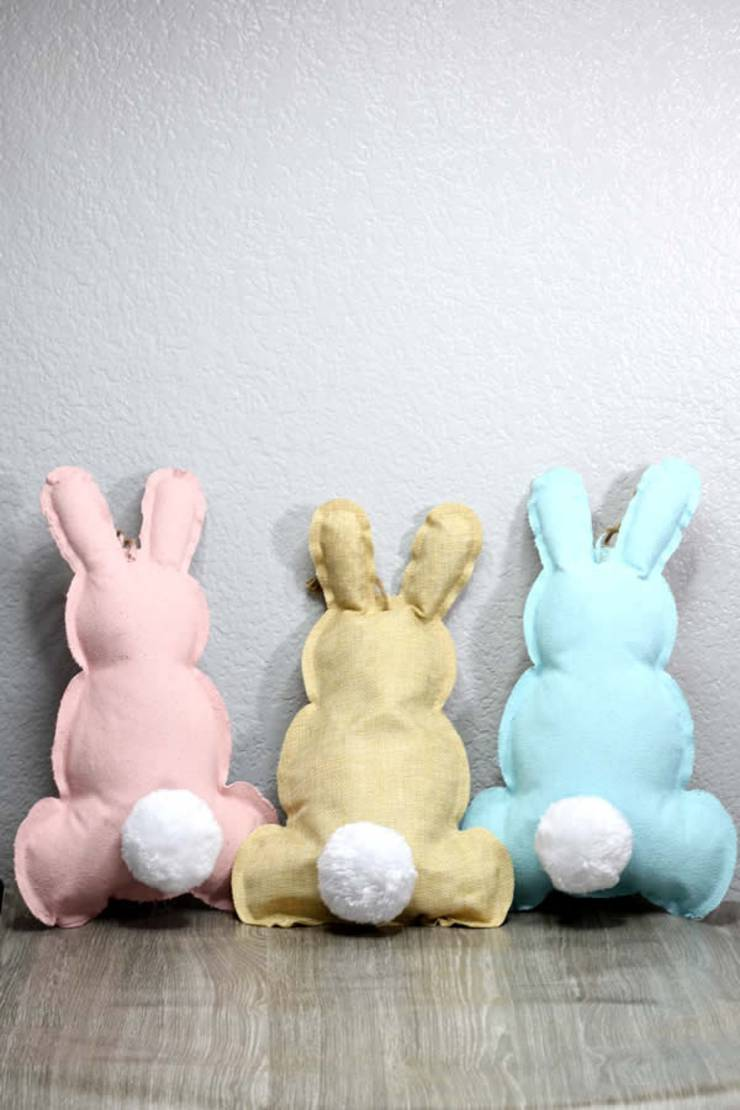 Dollar Store Spring Decor - Easy DIY Crafts - How To Make Easter Bunnies - Simple Decor Ideas For The Home - Dollar Tree Hacks