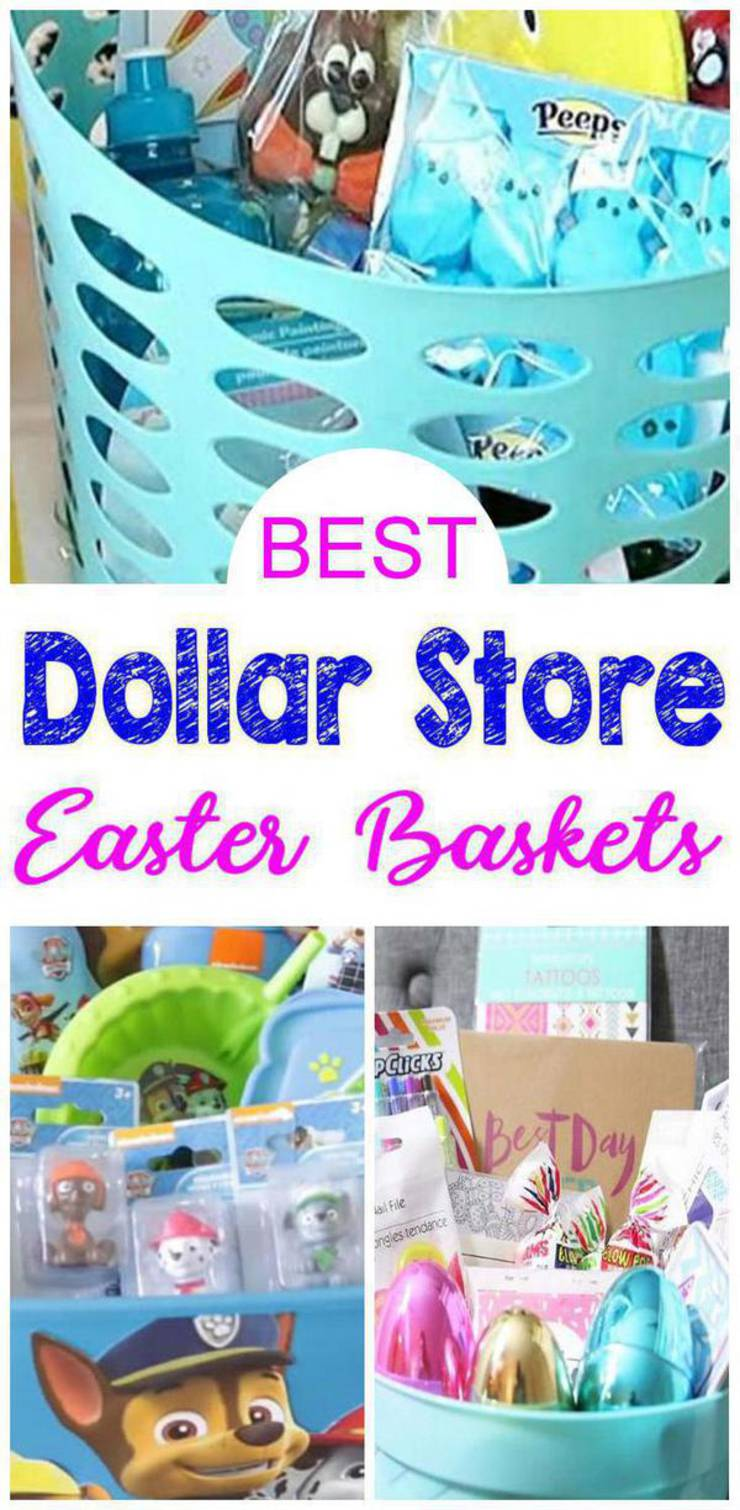 Best Dollar Store Easter Baskets Diy Gift Basket Ideas