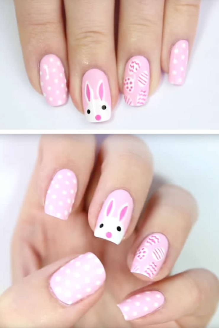 EASY Easter Nails \u2013 Simple Spring Nail Design \u2013 Cute DIY