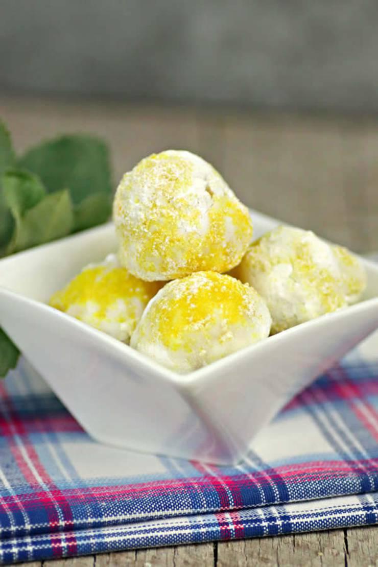Keto Lemon Fat Bombs - BEST Lemon Cheesecake Fat Bombs - Easy NO Bake Low Carb Recipe
