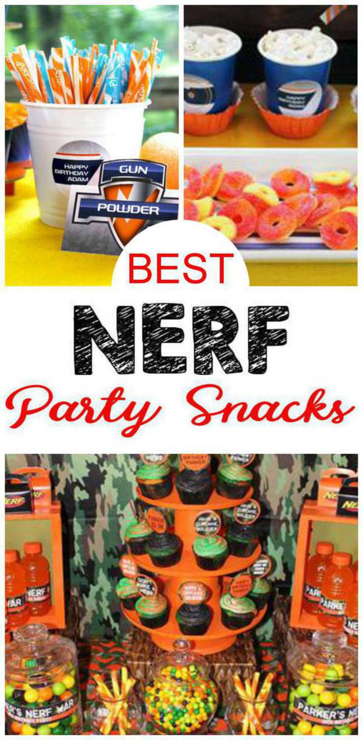 Nerf Party Snacks - Easy and Simple Nerf Gun Party Food Ideas