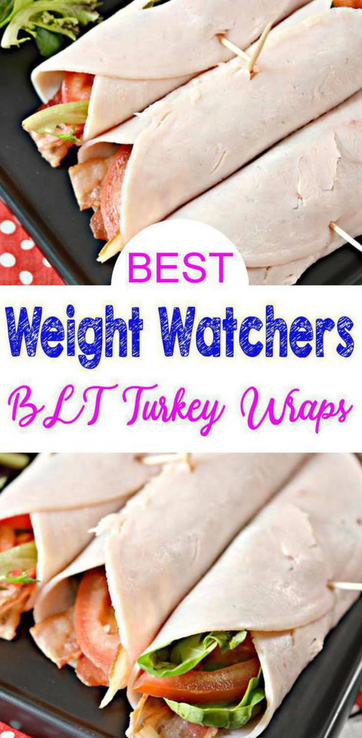 Weight Watchers Lunches - BEST WW Recipe - BLT Avocado Turkey Wraps With Smart Points