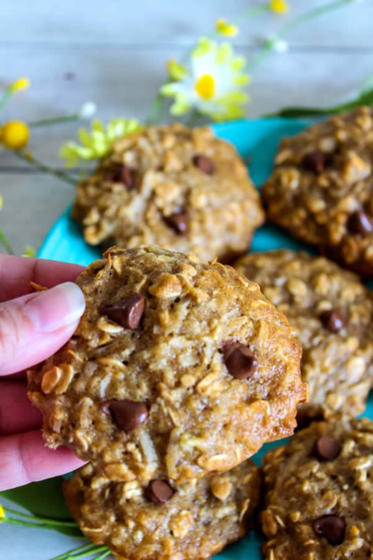 Weight Watchers Cookies - BEST WW Banana Oatmeal Chocolate Chip Cookies Recipe - Dessert - Breakfast - Treat - Snack with Smart Points