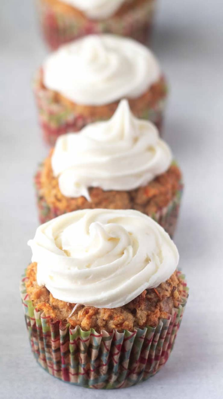 Weight Watchers Cupcakes - BEST WW Recipe - Carrot Cake Cupcakes - Cream Cheese Frosting Treat - Dessert - Snack with Smart Points