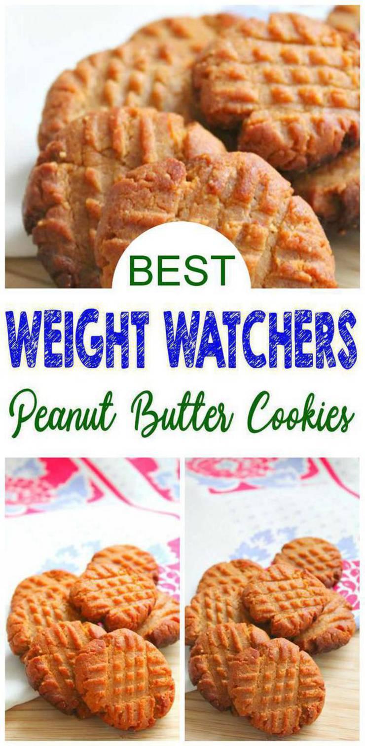 Weight Watchers 3 Ingredient Peanut Butter Cookies – BEST WW Recipe – Dessert – Treat – Snack with Smart Points