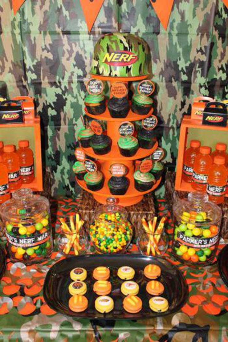 Camo Nerf Snack Table