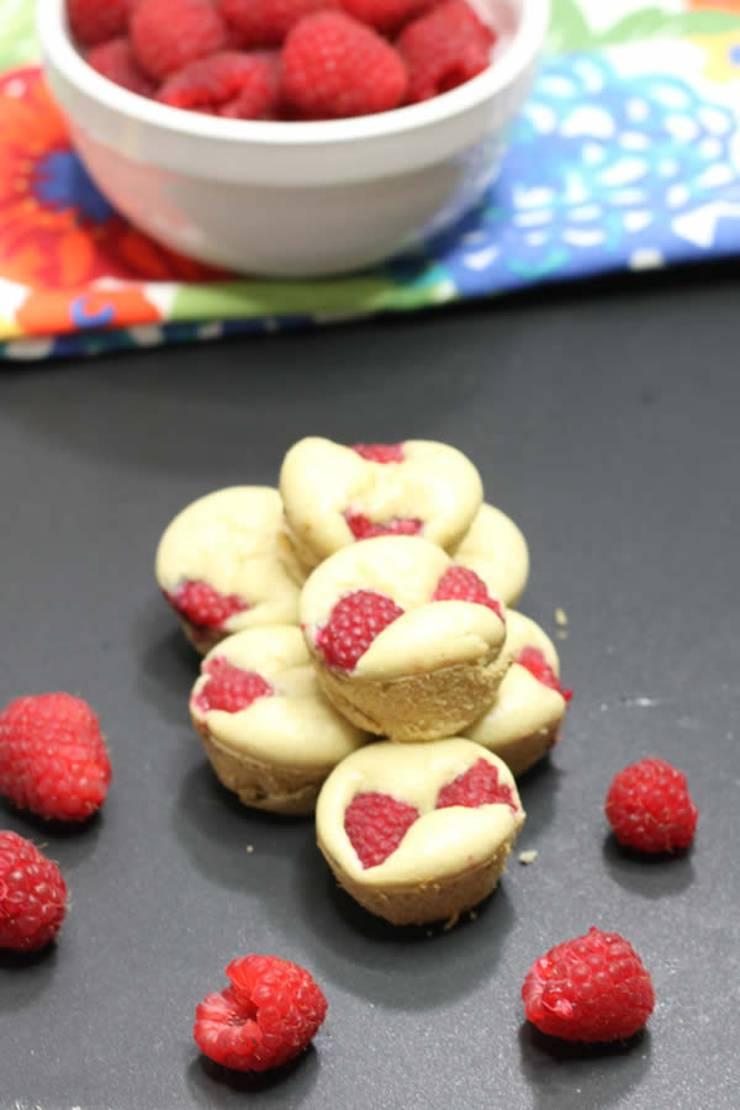 BEST Keto Muffins! Low Carb Raspberry Pancake Bites Idea - Quick & Easy Ketogenic Diet Recipe - Completely Keto Friendly - Sugar Free - Gluten Free