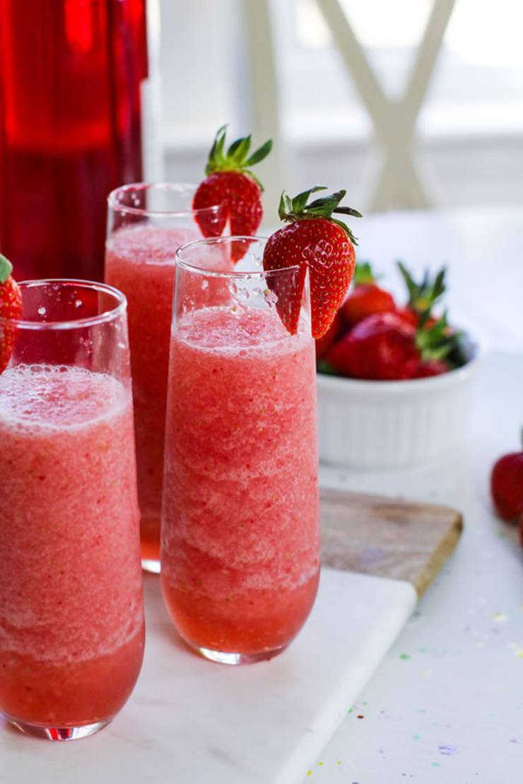 Frose Recipe! Easy Wine Slushie - How To Make Quick and Healthy Strawberry Alcohol Wine Slushies