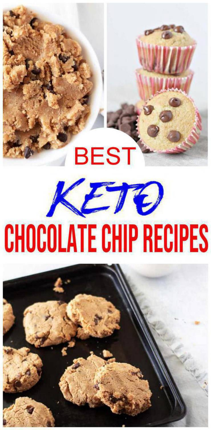 9 Keto Chocolate Chip Recipes – BEST Low Carb Chocolate Chip Ideas – Easy Ketogenic Diet Ideas