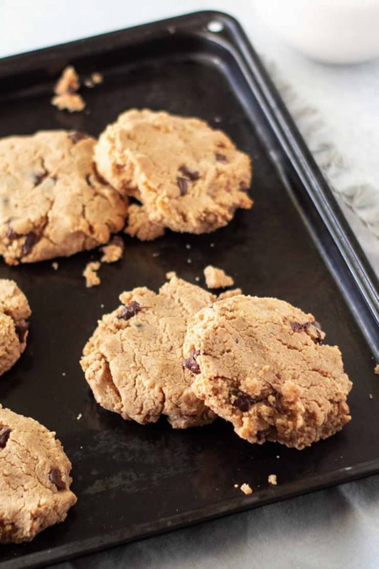 Keto Cookies! BEST Low Carb Peanut Butter Chocolate Chip Cookie Idea – Quick & Easy Ketogenic Diet Recipe – Completely Keto Friendly