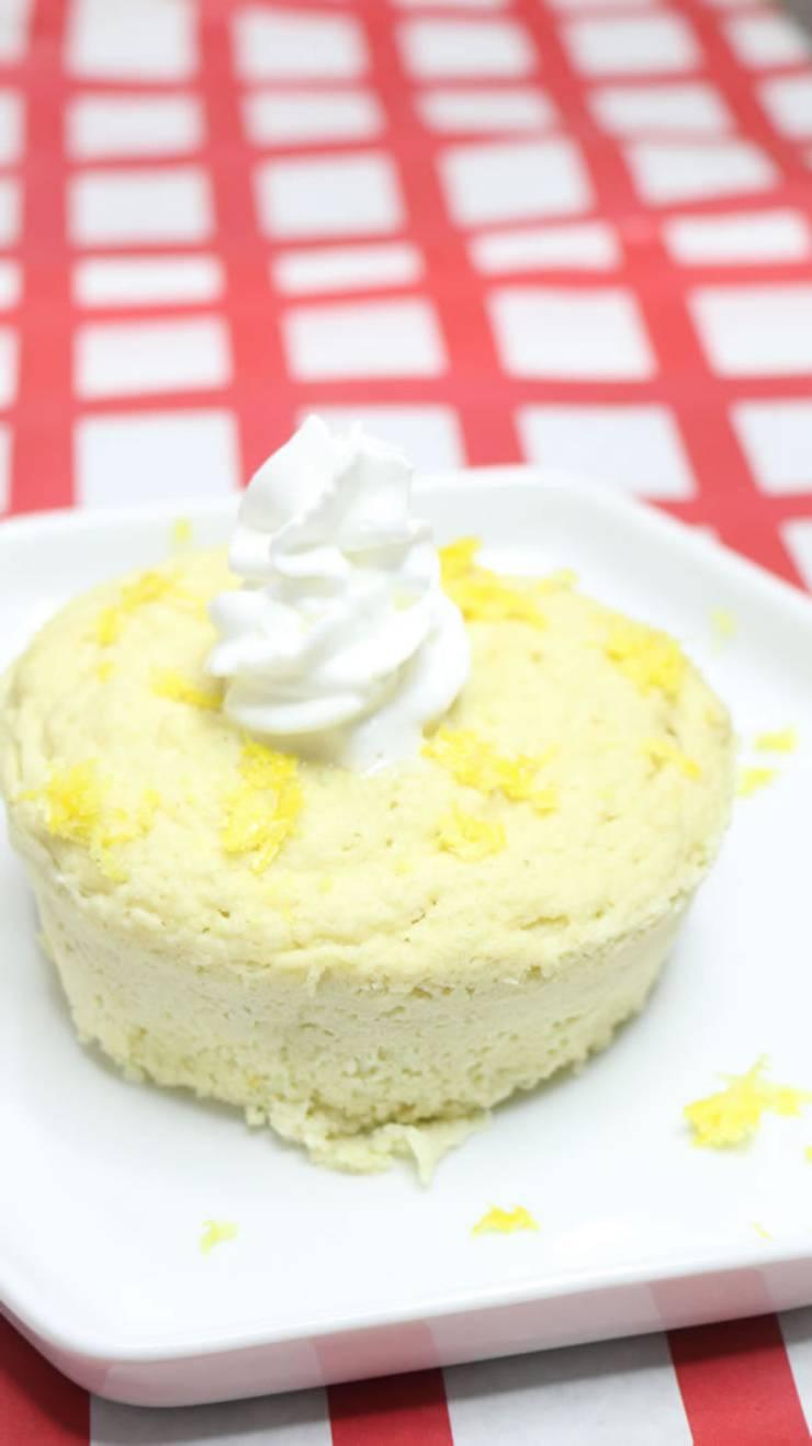 Keto Mug Cakes Low Carb Microwave Lemon Mug Cake Idea Best Quick Easy Ketogenic Diet