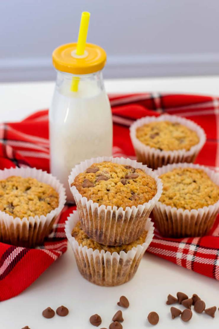 Weight Watchers Chocolate Chip Oatmeal Muffins – BEST WW Recipe – Breakfast – Treat – Snack with Smart Points