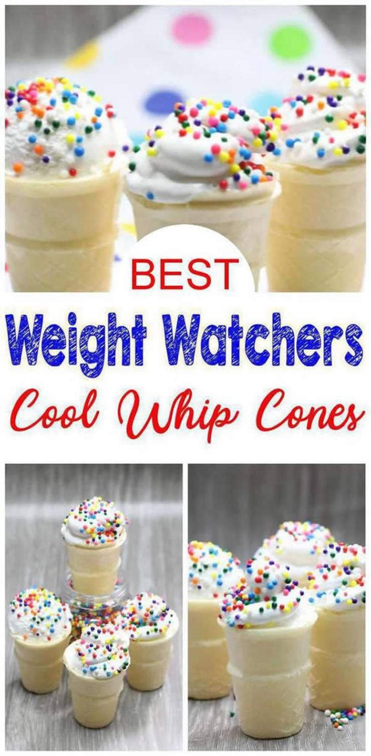 weight watchers desserts_weight watchers cool whip ice cream cones