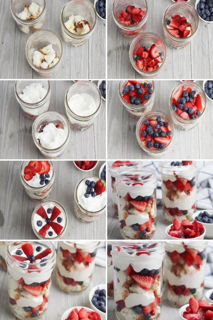BEST Weight Watchers Dessert! WW Fruit Idea – Quick & Easy Weight Watchers Diet Recipe - Shortcake Trifle In A Jar {Easy - NO Bake}. Great for parties - birthday, BBQ, Pool parties & more. Good late night snack - homemade not store bought - try this favorite WW recipe today!