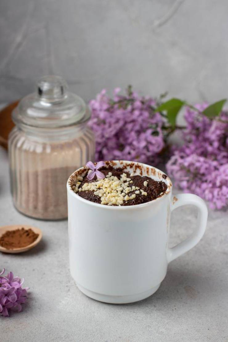 BEST Keto Brownie! Low Carb Keto Brownie In A Mug Idea – Quick & Easy Microwave Ketogenic Diet Recipe – Completely Keto Friendly Baking - Gluten Free - Sugar Free