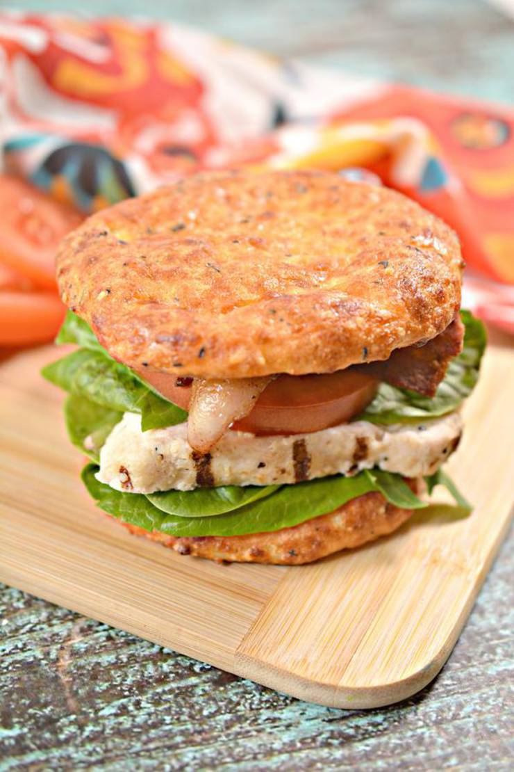 BEST Keto Buns! Low Carb Keto Buns and Grilled Chicken BLT Idea – Quick & Easy Ketogenic Diet Recipe – Completely Keto Friendly - Cheese Burger Buns
