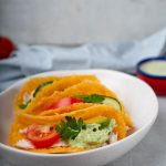 Keto Chicken Tacos with Cheese Tortilla and Dip - BEST Low Carb Recipe For Ketogenic Diet
