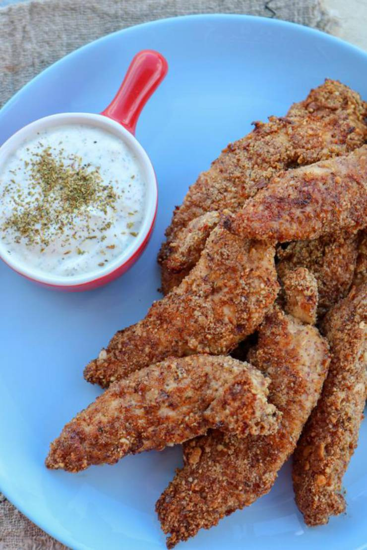 Keto Chicken Tenders – EASY Low Carb Chicken Strips Recipe – BEST Dinner - Lunch - Appetizer Idea