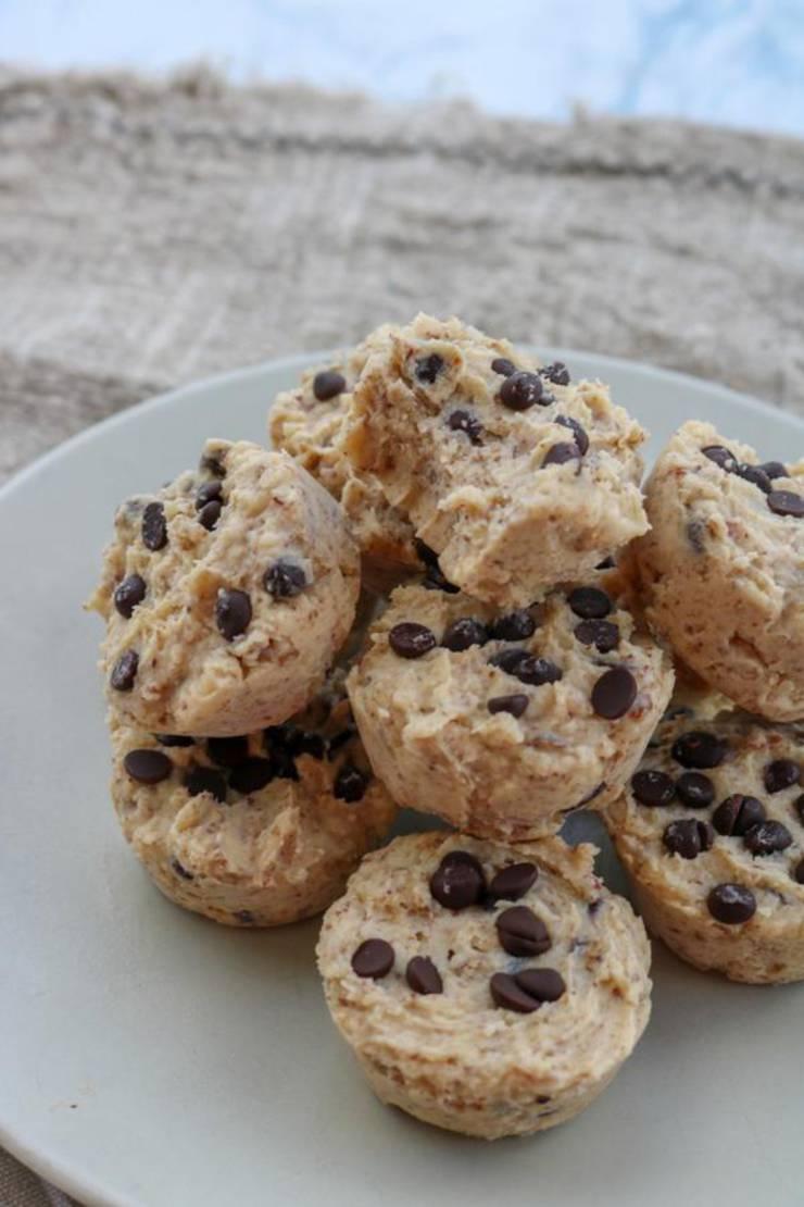 Keto Cookie Dough Fat Bombs – BEST Chocolate Chip Cookie Dough Cups Fat Bombs – Easy NO Sugar Low Carb Recipe