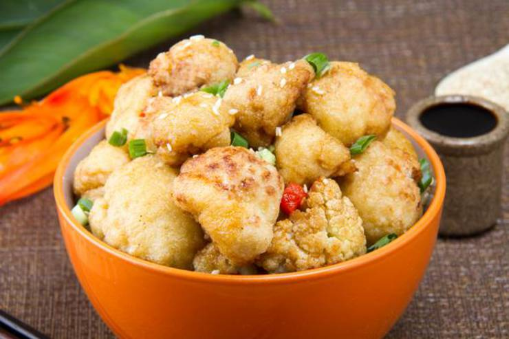 EASY Keto Cauliflower General Tso! Low Carb General Tso Idea - Quick - Healthy - BEST Chinese Food Recipe - Ketogenic Diet