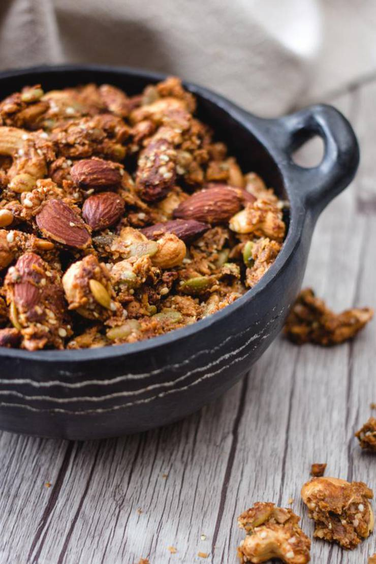 BEST Keto Granola! Low Carb Keto Peanut Butter Granola Idea – Quick & Easy Ketogenic Diet Recipe – Completely Keto Friendly