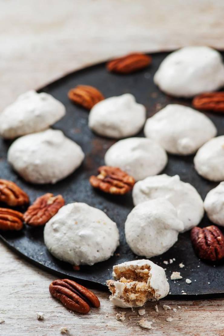 3 Ingredient Keto Pecan Cookies – The BEST Low Carb Keto Meringue Cookies {Easy – Flourless}
