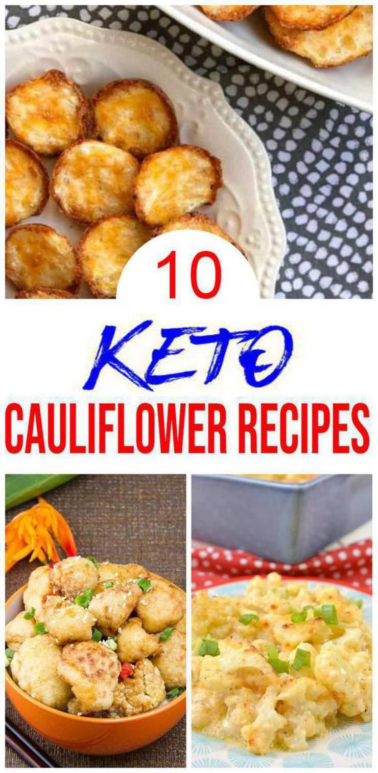 10 Keto Cauliflower Recipes – BEST Low Carb Keto Cauliflower Ideas – Easy Ketogenic Diet Ideas