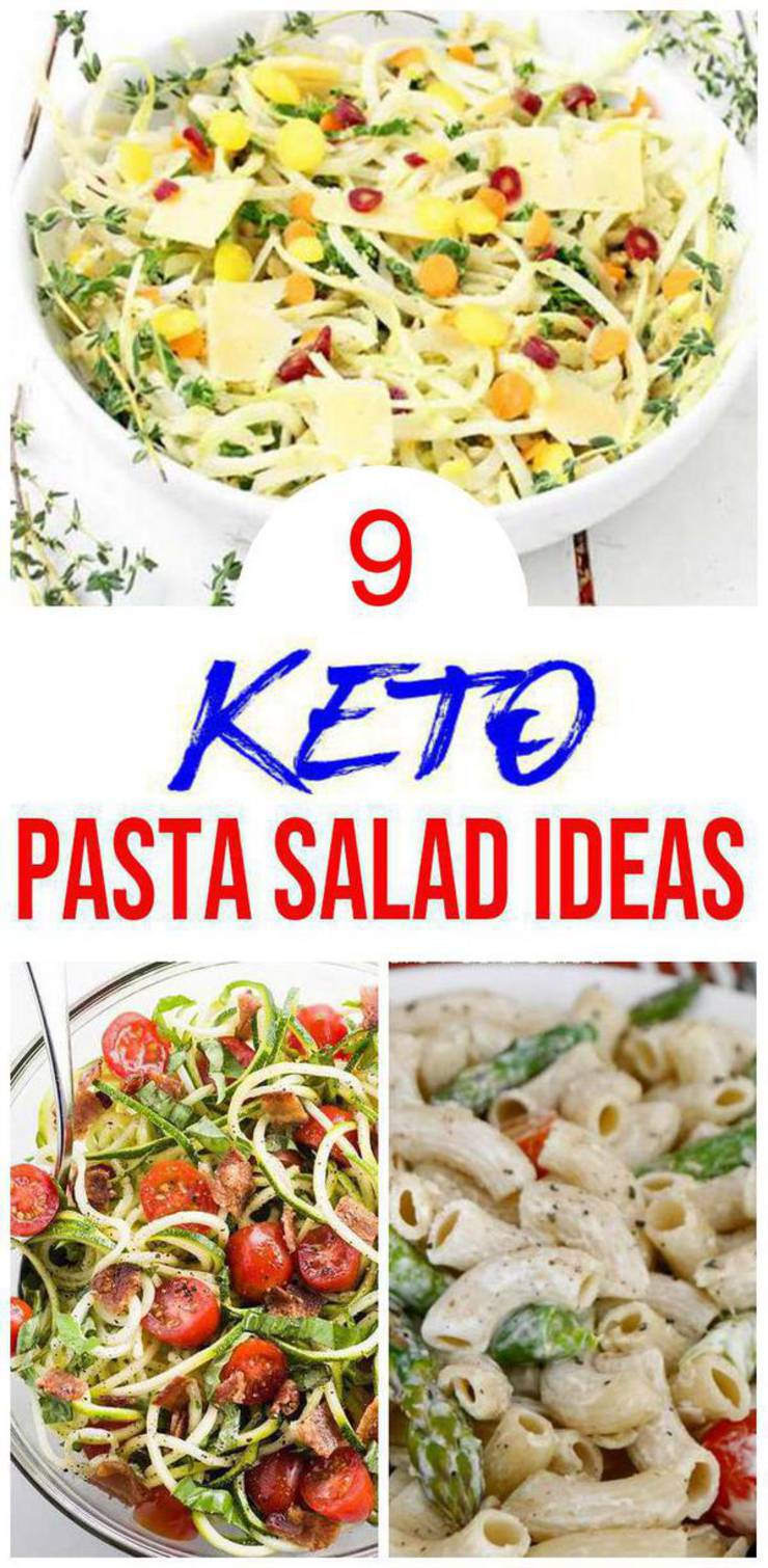 9 Keto Pasta Salad Recipes – BEST Low Carb Keto Pasta Salad Food Ideas – Easy Ketogenic Diet Ideas