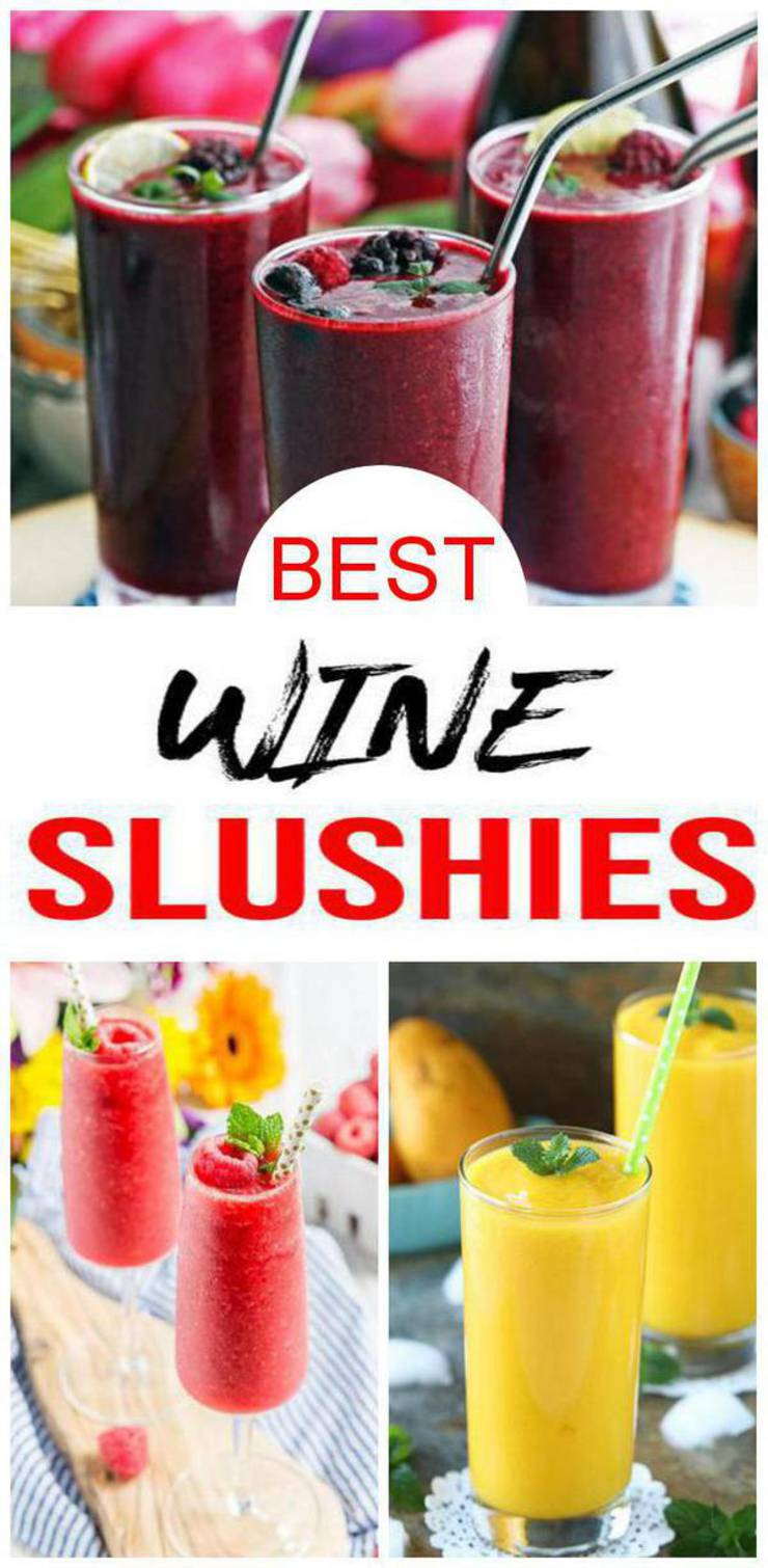 Wine Slushies - BEST Frozen Wine Slushy Ideas - How To Make Wine Slushies