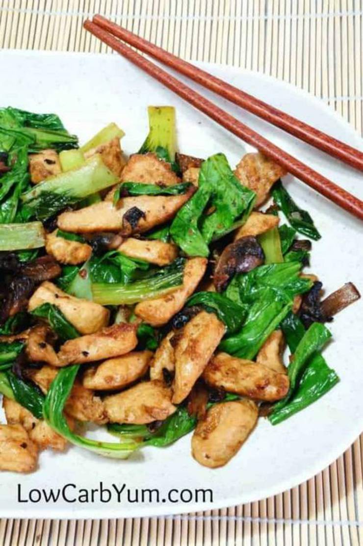 Low Carb Chicken Bok Choy