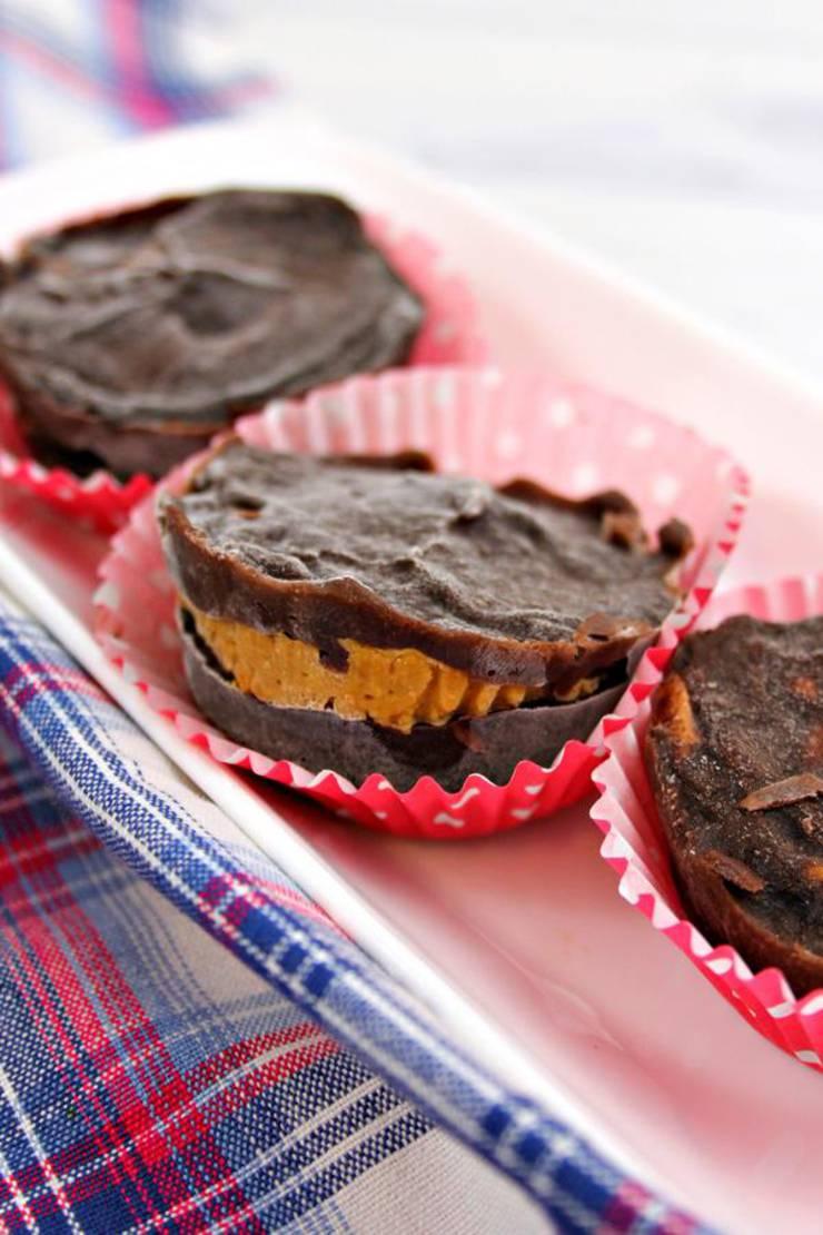 2 Ingredient Weight Watchers Desserts – The BEST Weight Watchers Recipe – Chocolate Peanut Butter Cups {Easy – No Bake}