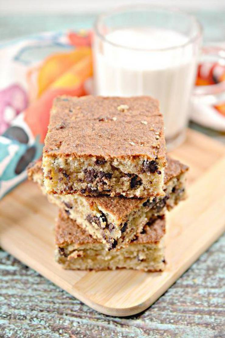 Best Keto Blondies Low Carb Keto Chocolate Chip Blondie Bar Idea Sugar Free Quick Easy Ketogenic Diet Recipe Completely Keto Friendly