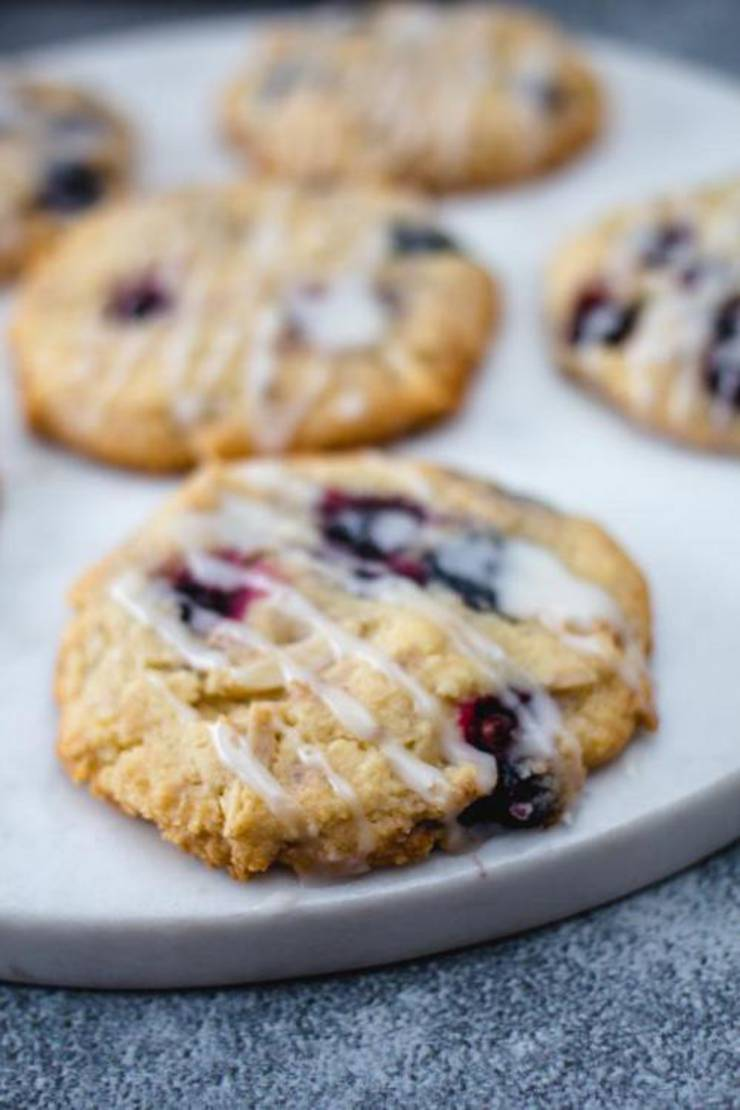 Best Keto Cookies Low Carb Keto Blueberry Streusel Cookies Cookie Idea Quick Easy Ketogenic Diet Recipe Completely Keto Friendly